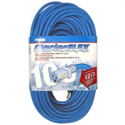 100' 12/3 SJTW -50C Glacier Blue Extension Cord