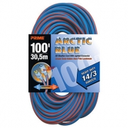 100' 14/3 SJEOW Blue/Orange Extension Cord