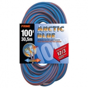 100' 12/3 SJEOW Blue/Orange Extension Cord