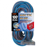 100' 12/3 SJEOW Blue/Orange Triple-Tap Extension Cord